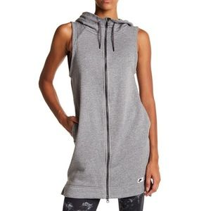Nike Hooded Zip Up Sleeveless Tunic